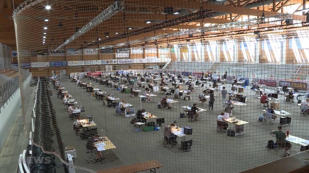 Sagibachhalle: Prüfungsstress statt Sportfieber