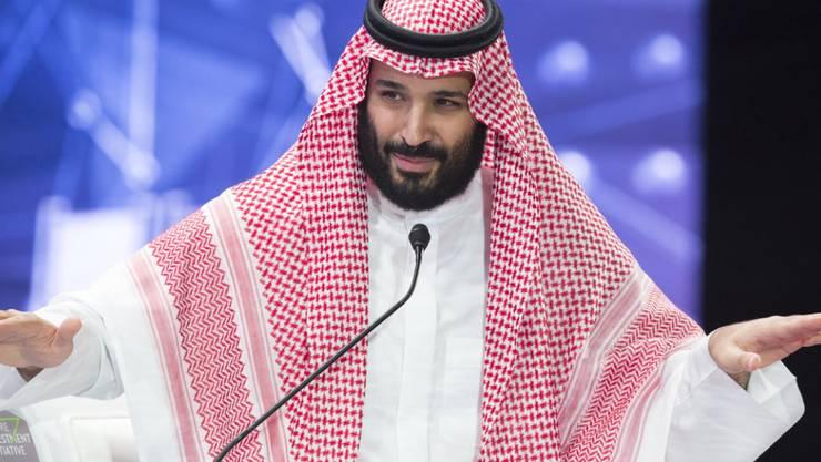 Der saudische Kronprinz Mohammed Bin Salman hat am Sonntag in einem Interview eine entschlossene Reaktion der internationalen Gemeinschaft gegen den Iran angemahnt. (Archivbild)
