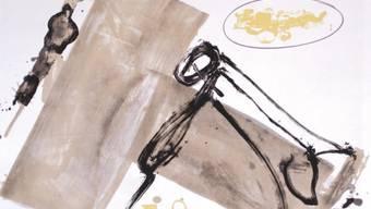 """Tàpies' """"Suite, Blatt 1"""" von 1989, eines der Exponate der Rheinecker Ausstellung (z.V.g.)"""