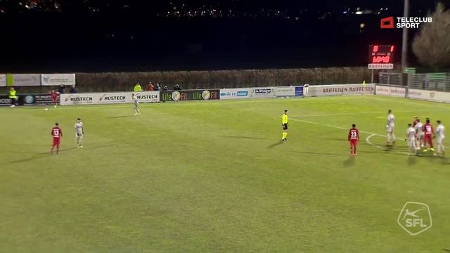 Challenge League: 20. Runde, FC Rapperswil-Jona - FC Aarau, 69. Minute, Joël Schmieds Tor zum 1:1