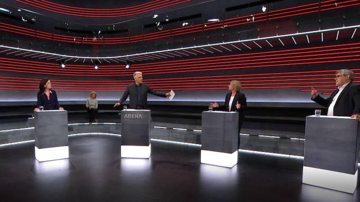 """Die """"Arena"""" als Auftakt zu einem hitzigen Abstimmungskampf über die Begrenzungs-Initiative."""