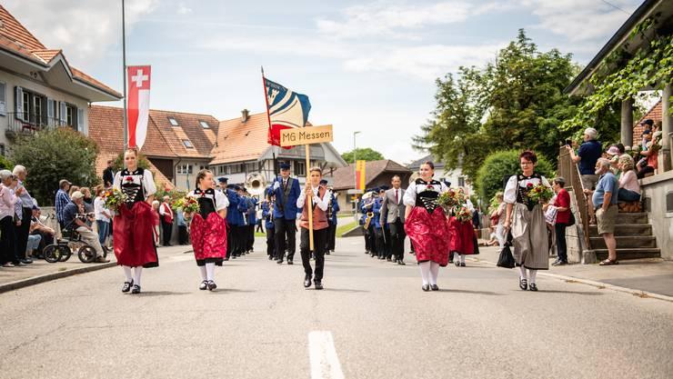 Die Musikgesellschaft Messen marschierte als gastgebender Verein ebenfalls mit.