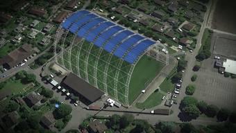 Vor drei Wochen gingen im Brügglifeld im Spiel Aarau gegen Zürich die Lichter aus. Das will man nicht noch einmal erleben und installiert nun ein Solardach.