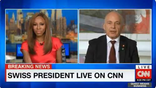 «I can nothing say» - Ueli Maurer mit holprigem CNN-Interview