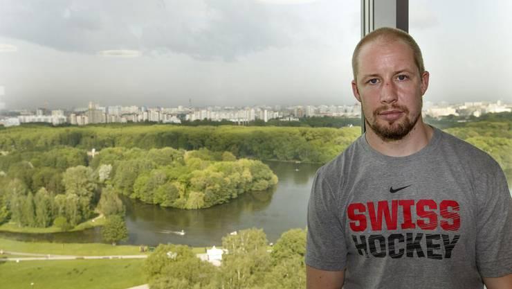Mathias Seger in Minsk an der Eishockey-WM 2014.