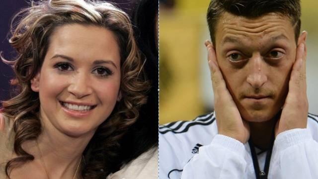 Mandy Capristo und Mesut Özil (Archiv)