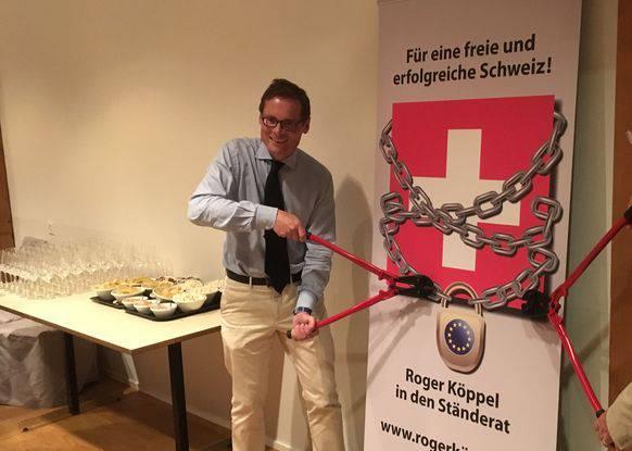Rahmenvertrag adieu – im Schwiizer Stübli, Rifferswil.