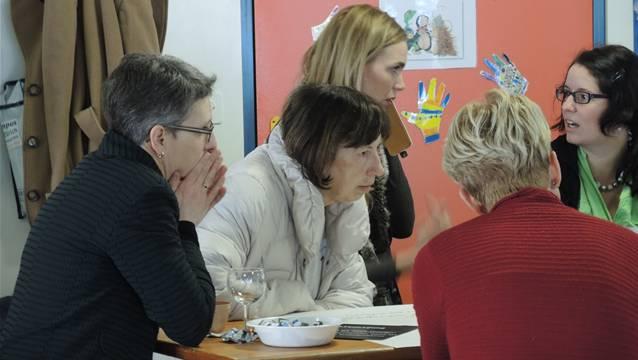 Die Lehrerschaft diskutierte angeregt über die digitalen Medien in den Schulzimmern. ZVG