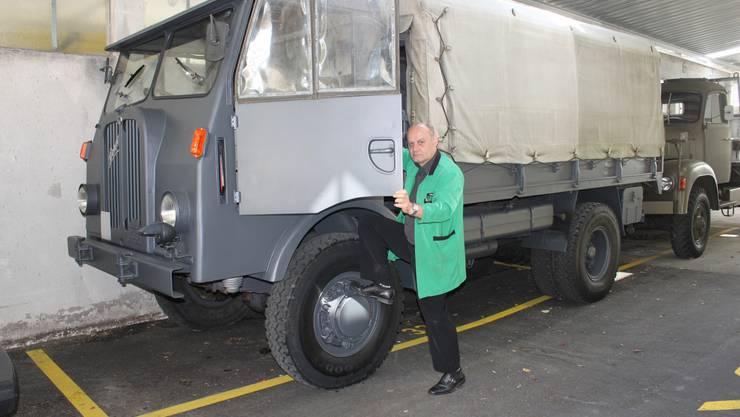 Am Samstag, 12. Juli, findet beim Velodrome ein Treffen für alte Schweizer Militärfahrzeuge statt. Der Grenchner Garagist ist im OK und  hat selber einige schön resaturierte Fahrzeuge.