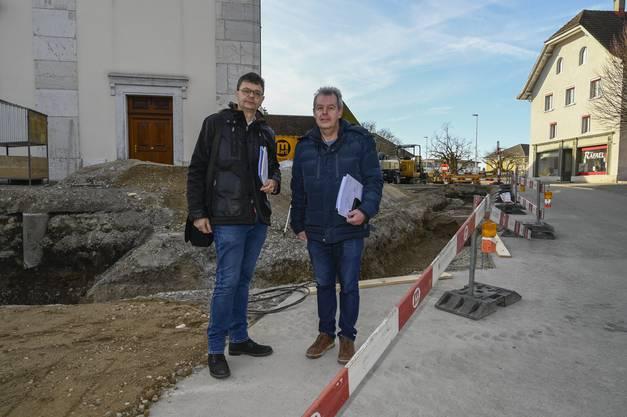 Die beiden Architekten: Natal Imahorn und Josef Galli