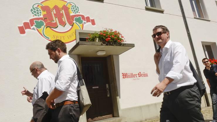 Die SP hat auf ihrem traditionellen Fraktionsausflug die Umweltarena Spreitenbach  und die Brauererei Müller in Baden besucht.
