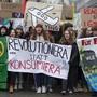 Junge Demonstranten marschieren während einer Klimademonstration durch die Stadt Bern. Am Freitag folgen weitere Proteste.