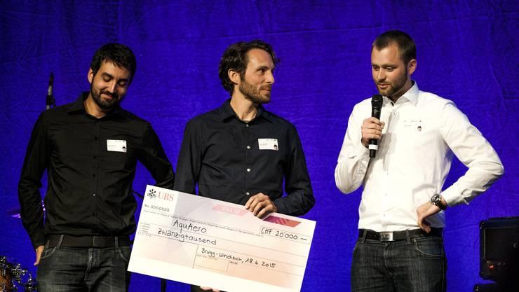 Verleihung des Jungunternehmer-Preises der Fachhochschule Nordwestschweiz.