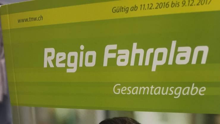 Auslaufmodell: Der Regio-Fahrplan 2017 war wohl der letzte seiner Art.