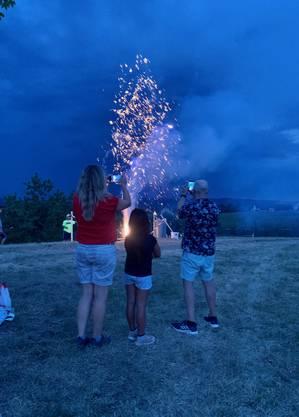 Alles unter Kontrolle: Vulkane am 1. August in Ramlinsburg.