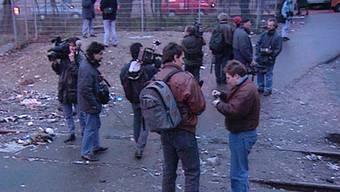 «Und dann passiert nichts»: «Schweiz aktuell» widmete dem Medienrummel am Letten in der Sendung vom 14. Februar 1995 einen ganzen Beitrag.