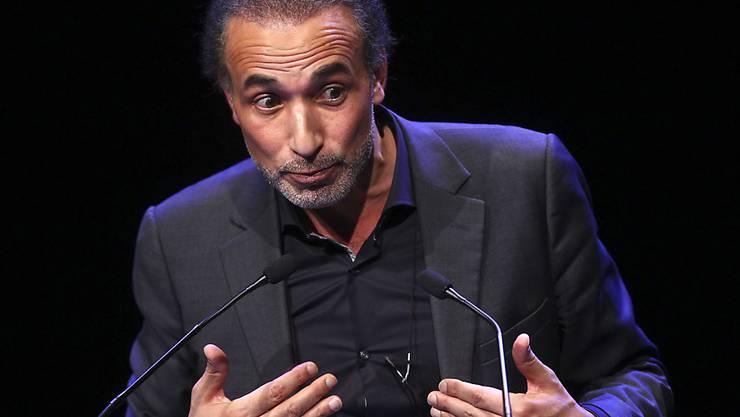 Der Islamwissenschaftler Ramadan bei einem Auftritt in Lille im Februar 2016.