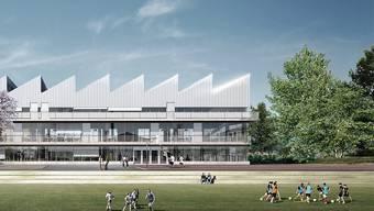 Das neue Schulhaus in Laufen