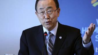 Ban Ki Moon am Dienstag am Nothilfegipfel in Istanbul.