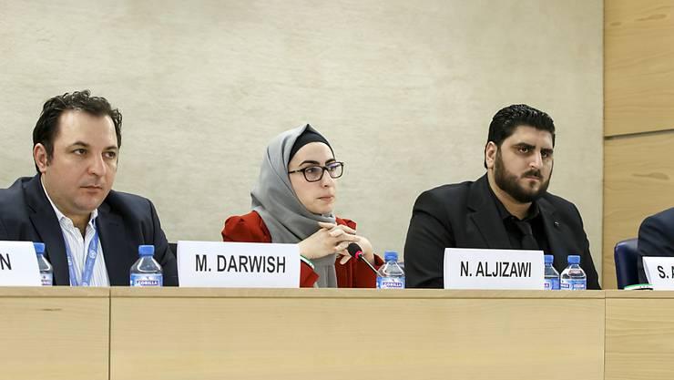 Ehemalige Häftlinge und Folteropfer aus Syrien sagen vor dem UNO-Menschenrechtsrat in Genf aus