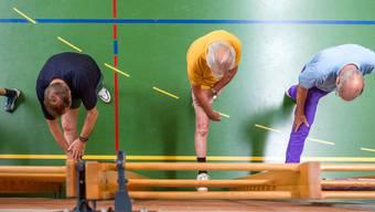 Training der Koronargruppe Baden in der Mehrzweckhalle Birmenstorf