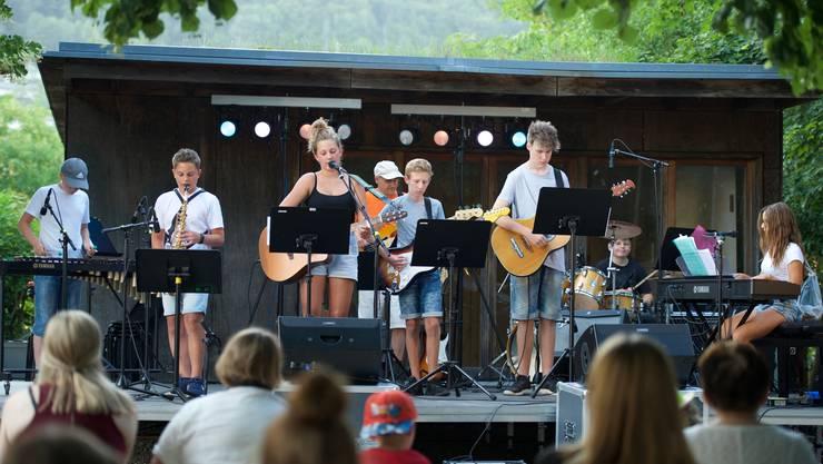Die Schülerband «The Furious Eagles» aus Lostorf begeisterte letztes Jahr das Publikum am Open Air.