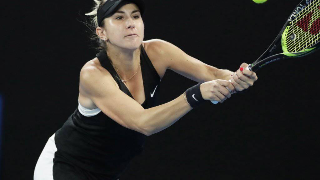 Belinda Bencic fordert am WTA-Turnier in Dubai im Viertelfinal die Weltranglistenzweite Simona Halep