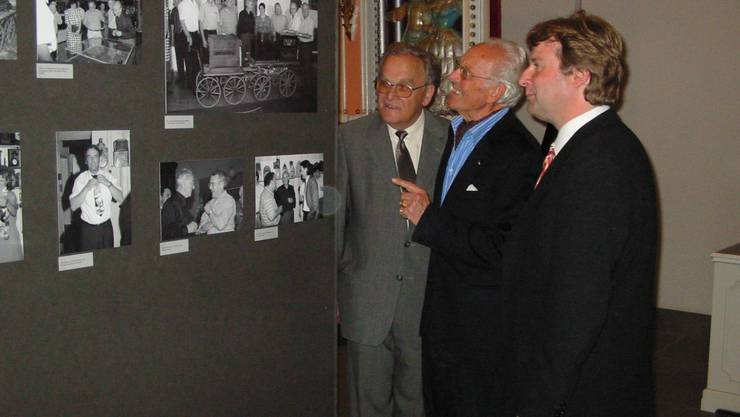 Eine Erinnerung an 2004: (v.l.) Alt-Bundesrat Otto Stich, Heinrich Weiss und Christoph Hänggi.