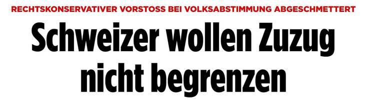 Schlagzeile auf bild.de