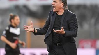 Luganos Trainer Maurizio Jacobacci wird seine Mannschaft nicht vor Ende Mai um sich haben