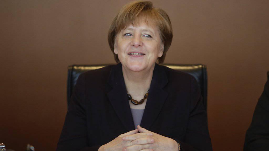 Kanzlerin Merkel wird am 1. Juni dabei sein, wenn der Gotthard-Basistunnel offiziell eröffnet wird. (Archivbild)