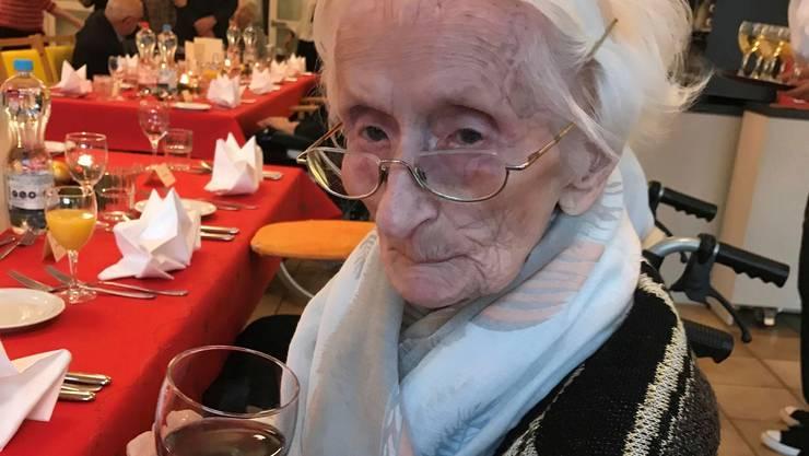 Elsbeth Sahli-Reber an einer Feier im Dezember 2019.