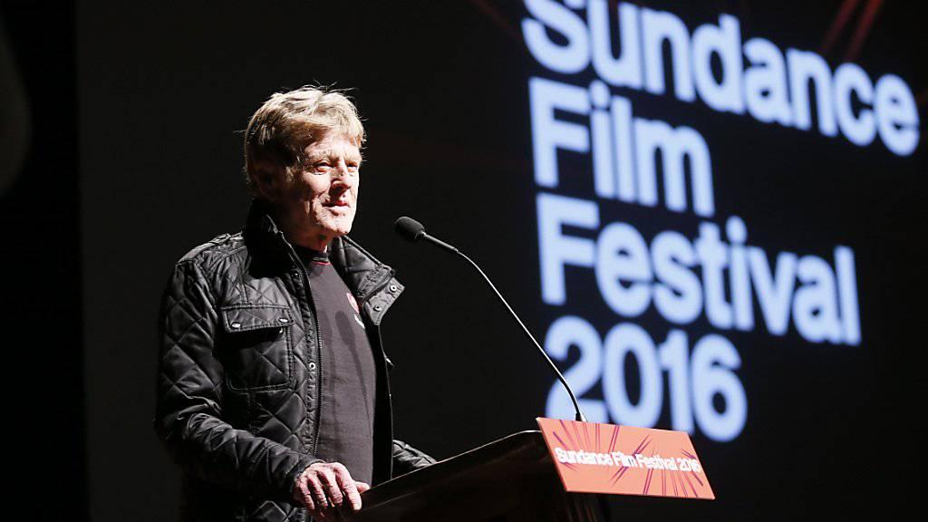 Er hat das Sundance Festival 1981 gegründet: Hollywoodstar Robert Redford bei der Eröffnung der diesjährigen Ausgabe.