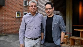 Aldo Bigolin, Präsident Verein Kuratorium Internationale Musikwoche Grenchen, und der neue künstlerische Leiter, Felix Heri.