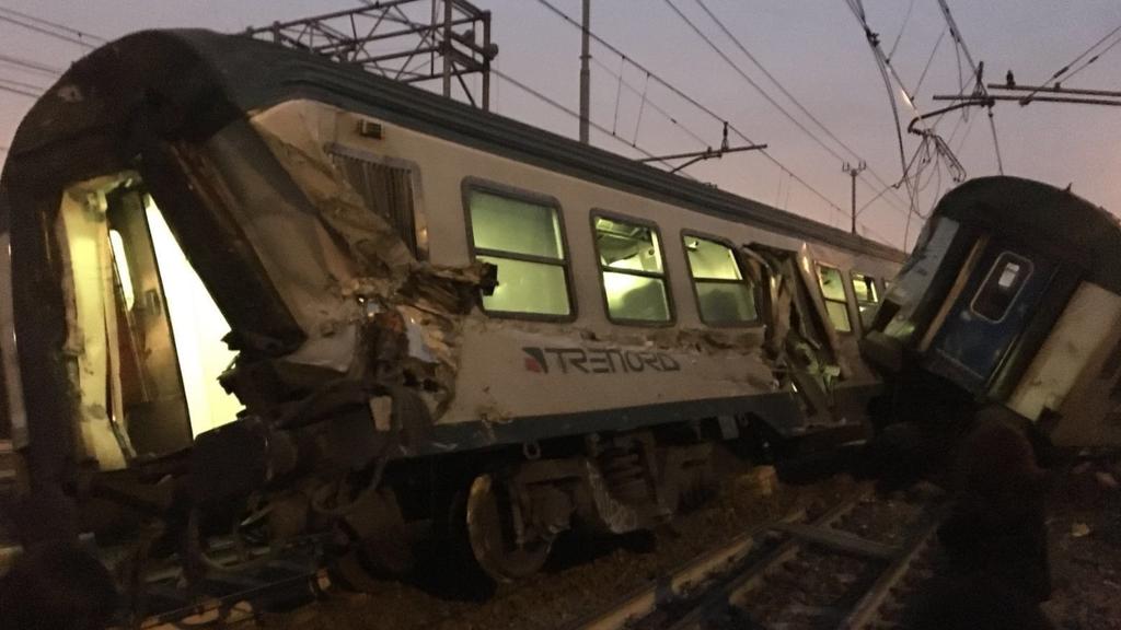 Mailand: Pendlerzug entgleist im Morgenverkehr
