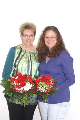 die scheidende Präsidentin, Helen Isler und die neu gewählte Präsidentin, Mirjam Schön