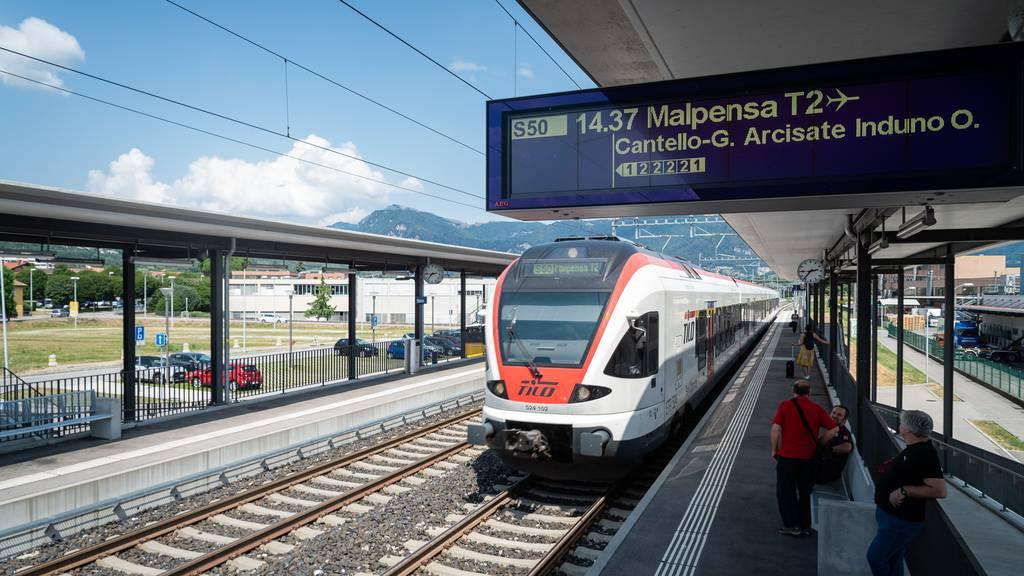 Die Regionalzüge TILO fahren ab Sonntag wieder zwischen dem Tessin und Norditalien.