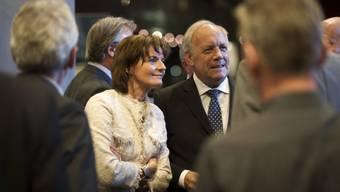 Neben Schneider-Ammann war auch alt Bundesrätin Metzler in Luzern