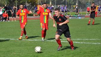 Dardania steht im Cupfinal: Perparim Rafuna (Schwarzes Tenü) und sein Team treffen im Endspiel auf Rheinach oder Binningen.