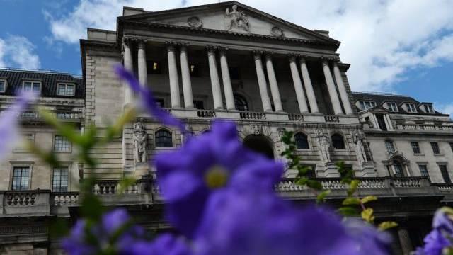Die Bank of England im Zentrum von London