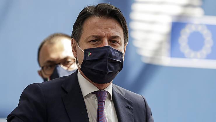 Giuseppe Conte, Premierminister von Italien, beim EU-Gipfel Mitte Juli. Foto: Stephanie Lecocq/EPA Pool/AP/dpa