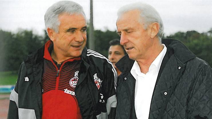 Trainer-Legenden: Hanspeter Latour und Giovani Trappatoni.