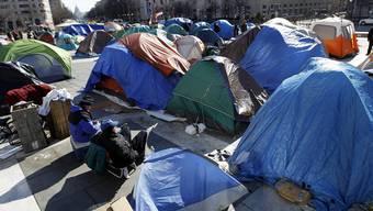 Das Protestlager in Washington vor der Räumung (Archiv)