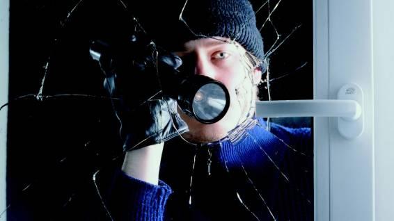 Der junge Einbrecher schlug eine Scheibe ein und drang ins Geschäft ein (Symbolbild)