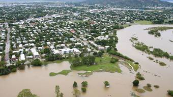 Die Stadt Townsville im Nordosten Australiens war am meisten von den Überschwemmungen betroffen. Hier starben auch zwei Personen in den Wassermassen.