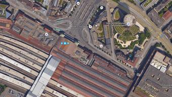 Als die Tramführerin aus der Unterführung bei der Post Richtung Haltestelle Bahnhof SBB fuhr, wurde sie mit einem Laser-Pointer attackiert.