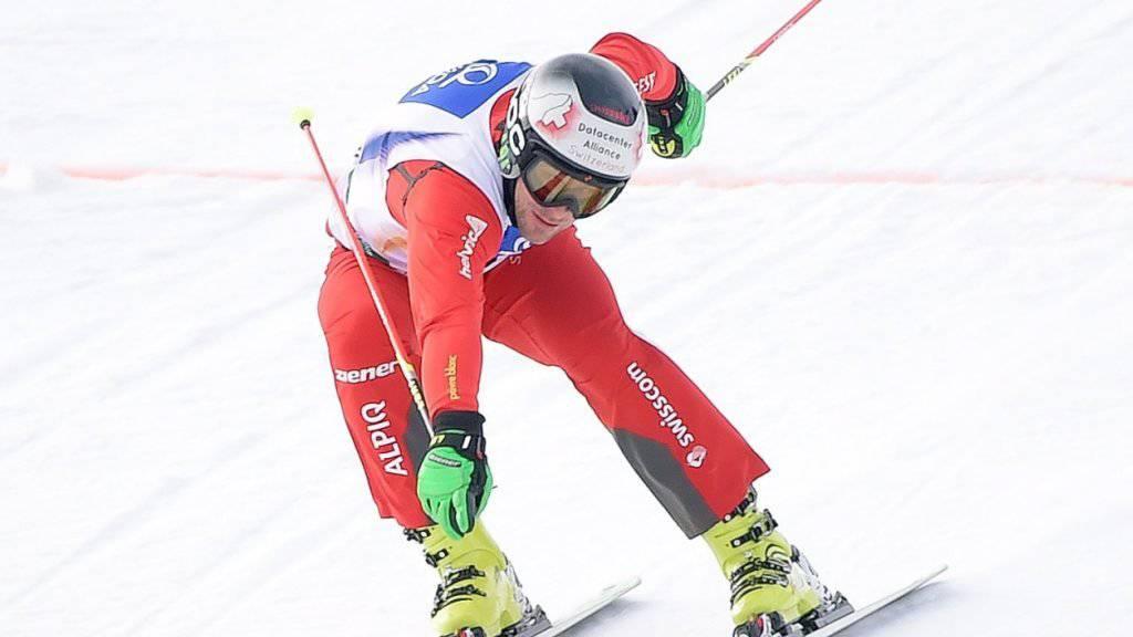 Der Schweizer Skicrosser Armin Niederer gewinnt in Watles sein drittes Weltcuprennen