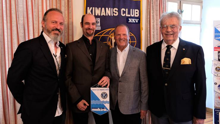 Clubpräsident Roger Maneth, Neumitglied Stephan Schneebeli, Clubsprecher Urs Schmid und Clubsekretär Chris Jacobi.