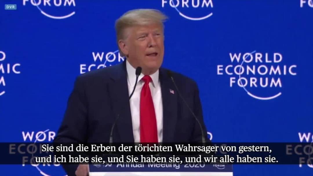"""WEF: Trump kritisiert """"Weltuntergangspropheten"""""""