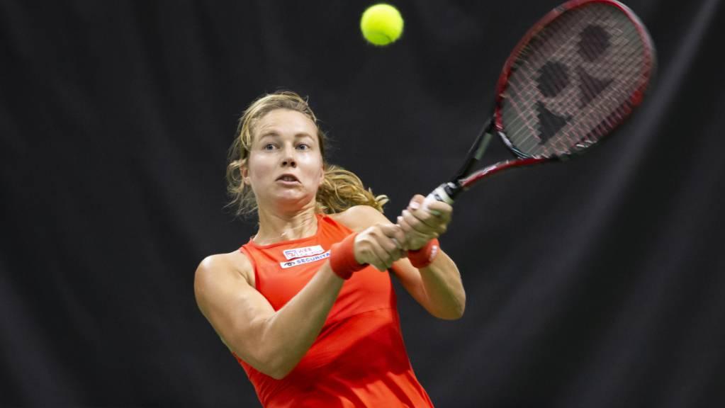 Stefanie Vögele scheiterte an Jelena Ostapenko nur knapp
